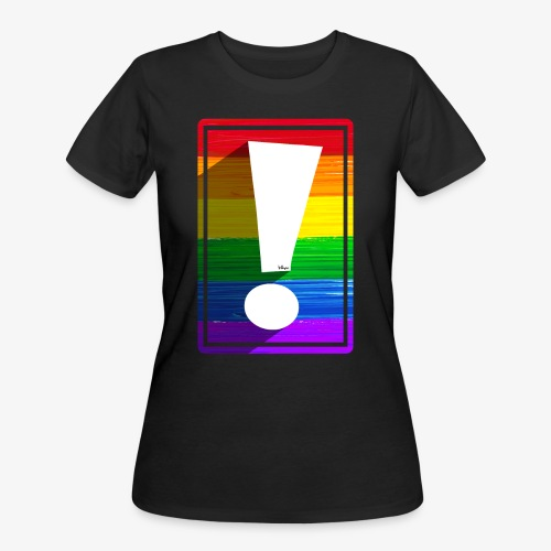 LGBTQ Pride Exclamation Point - Women's 50/50 T-Shirt