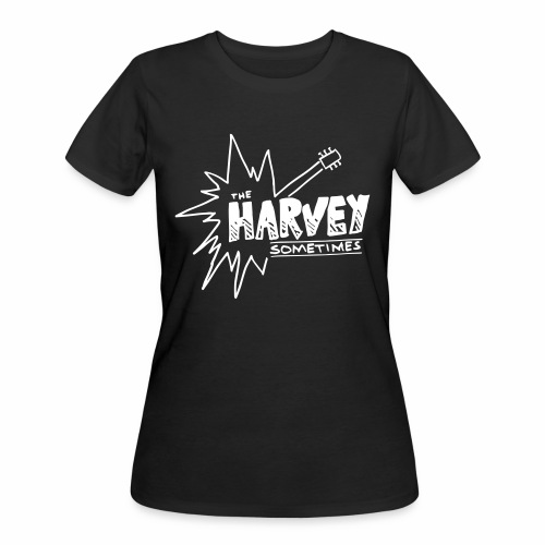 Band Logo - White - Front and Back - Women's 50/50 T-Shirt