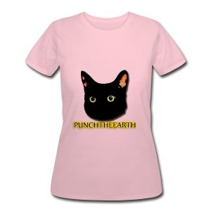 PunchTheEarth Cat with Text - Women's 50/50 T-Shirt
