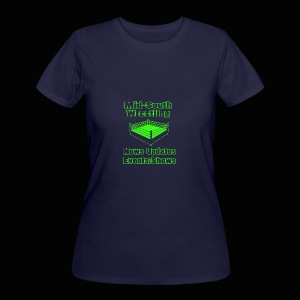 Mid-South Wrestling News Neon/Lime Green - Women's 50/50 T-Shirt
