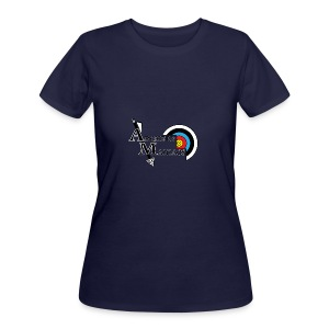 Archery Maniacs White Outline - Women's 50/50 T-Shirt
