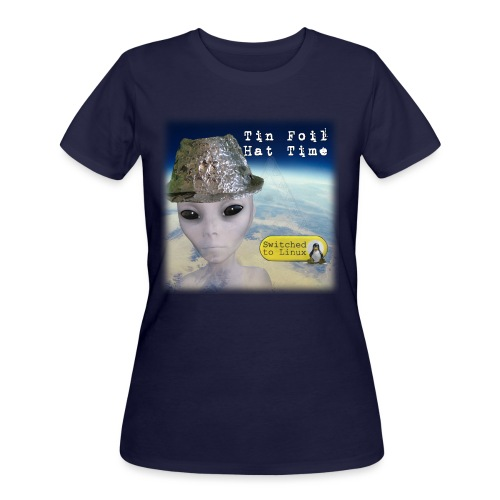 Tin Foil Hat Time (Earth) - Women's 50/50 T-Shirt