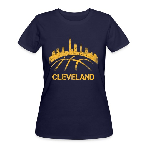 Cleveland Basketball Skyline - Women's 50/50 T-Shirt