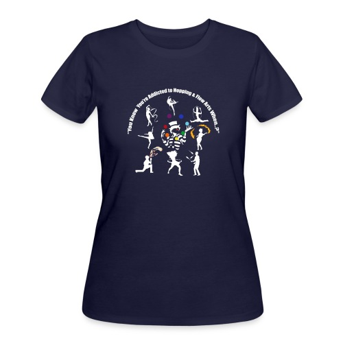 You Know You're Addicted to Hooping - White - Women's 50/50 T-Shirt