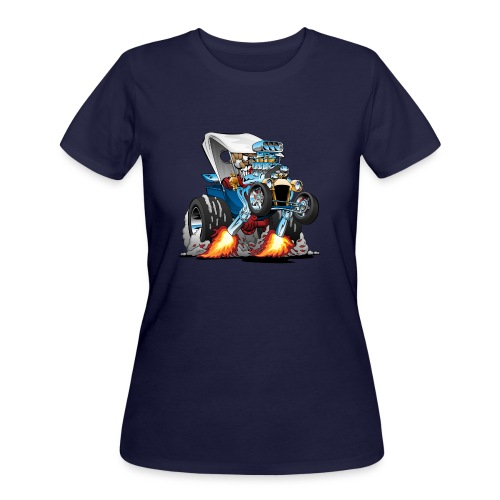 Custom T-bucket Roadster Hotrod Cartoon - Women's 50/50 T-Shirt