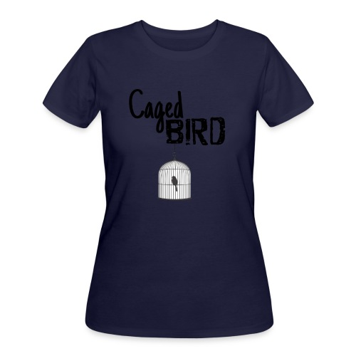 Caged Bird Abstract Design - Women's 50/50 T-Shirt