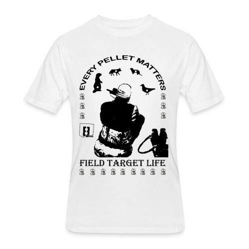 T-shirt Every Pellet Matters Air Rifle Target - Men's 50/50 T-Shirt