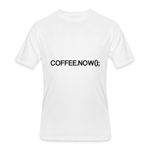 Coffee.now() - Men's 50/50 T-Shirt