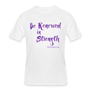 Be Renewed in Strength - Men's 50/50 T-Shirt