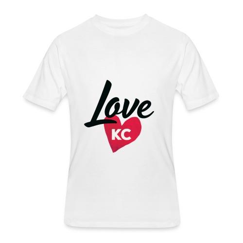 LoveKC Logo Final color - Men's 50/50 T-Shirt