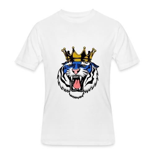 Jackson State Tiger Crown - Men's 50/50 T-Shirt