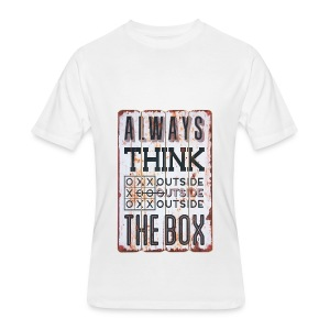 Always think outside the box - Men's 50/50 T-Shirt