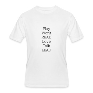 Play_Work_Read - Men's 50/50 T-Shirt