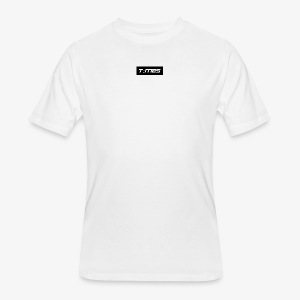 Times Supply - T-Shirt, Blanc, Homme - T-shirt 50/50 pour hommes