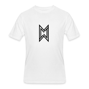 Black Logo White T-Shirt - Men's 50/50 T-Shirt