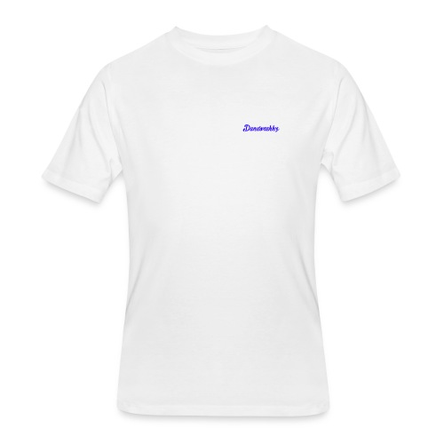 Logo Blue - Men's 50/50 T-Shirt