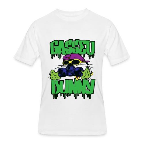 GASSED BUNNY ARTWORK - Men's 50/50 T-Shirt