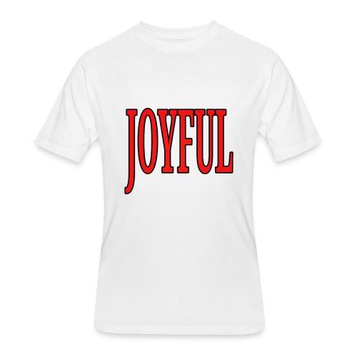 Dave The Cat Big Word Tee! Joyful! - Men's 50/50 T-Shirt