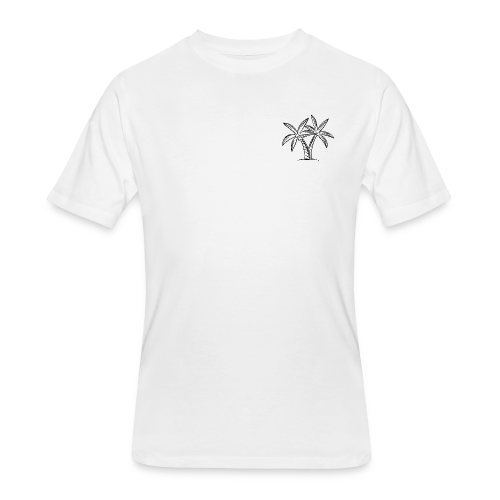 Palm tree embroidery - Men's 50/50 T-Shirt