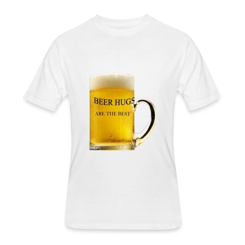BEER HUGS ARE THE BEST - Men's 50/50 T-Shirt