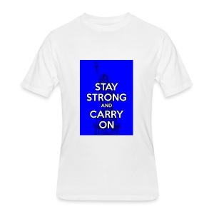 Stay Strong and Carry On - Men's 50/50 T-Shirt