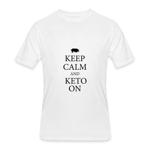 Keto keep calm2 - Men's 50/50 T-Shirt