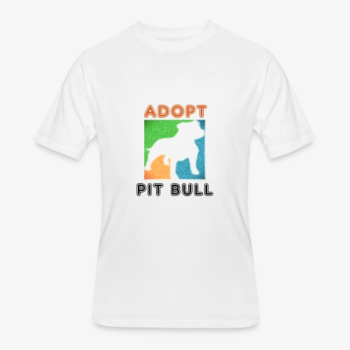ADOPT PIT BULL - Men's 50/50 T-Shirt
