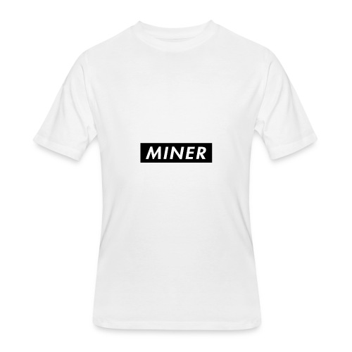 Miner Box Logo - Men's 50/50 T-Shirt