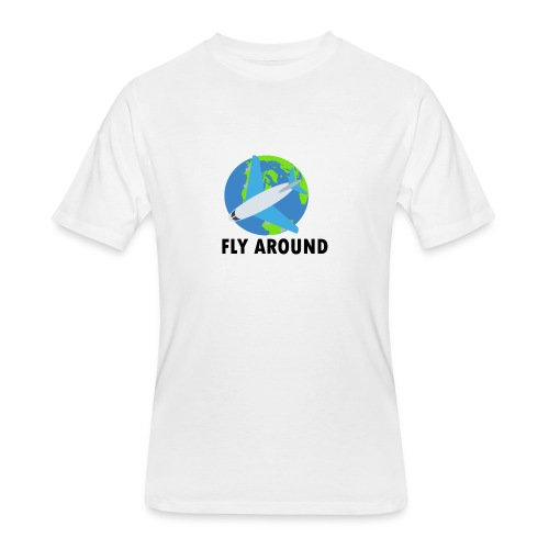 Fly Around Logo - Men's 50/50 T-Shirt