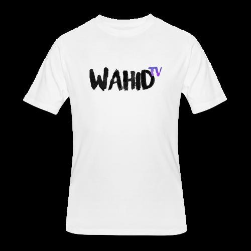 Black WahidTV Text Logo - Men's 50/50 T-Shirt