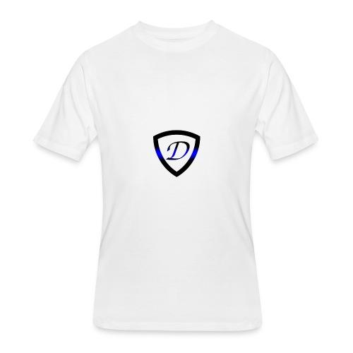 Dietz Foundation Thin Blue Line Badge - Men's 50/50 T-Shirt