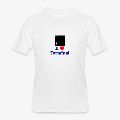I Love Terminal - Men's 50/50 T-Shirt