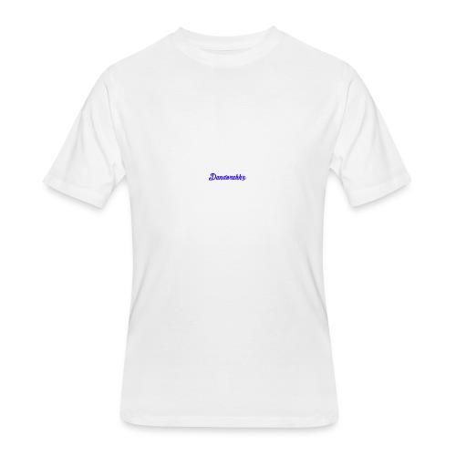 Logo Blue - Men's 50/50 T-Shirt