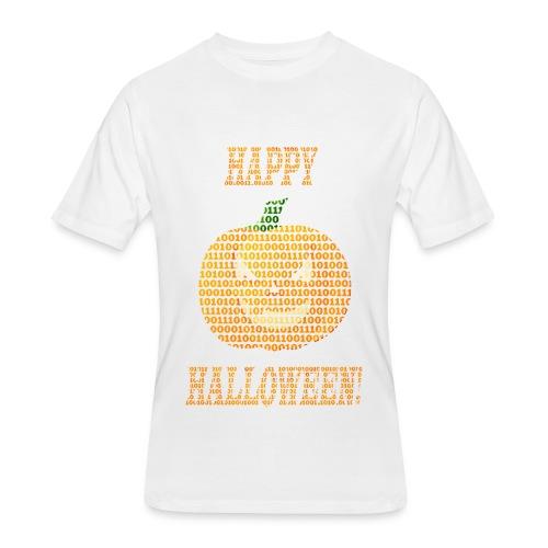 Limited Edition!! Happy Halloween Binary Pumpkin - Men's 50/50 T-Shirt