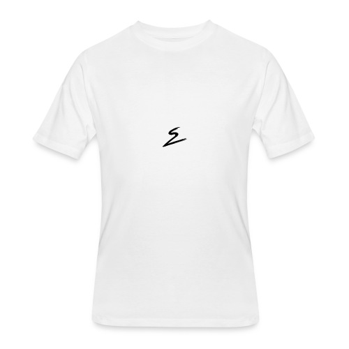 Swirv Signature Logo White - Men's 50/50 T-Shirt