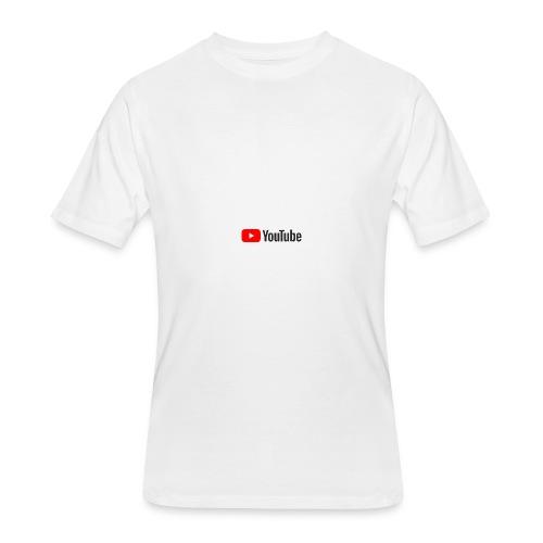 YouTube (White) - Men's 50/50 T-Shirt