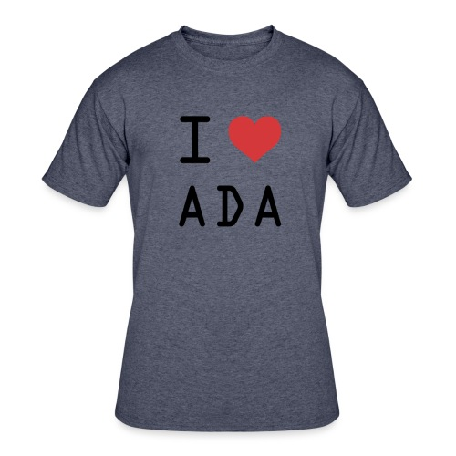 I HEART ADA (Cardano) - Men's 50/50 T-Shirt