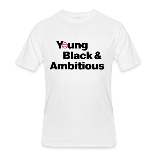YBA white and gray shirt - Men's 50/50 T-Shirt