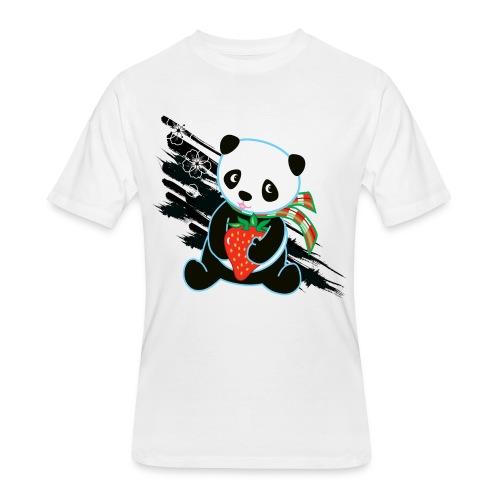 Cute Kawaii Panda T-shirt by Banzai Chicks - Men's 50/50 T-Shirt
