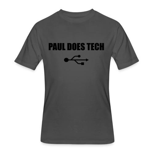 Paul Does Tech Logo Black with USB - Men's 50/50 T-Shirt