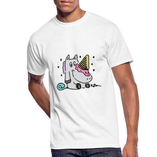 Ice Cream Unicorn - Men's 50/50 T-Shirt