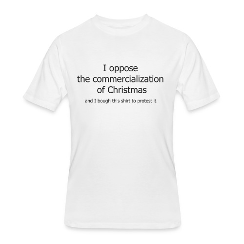 Christmas Commercialization Ladies T - Men's 50/50 T-Shirt