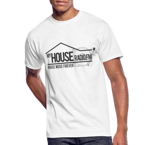 My House Radio Black Logo - Men's 50/50 T-Shirt