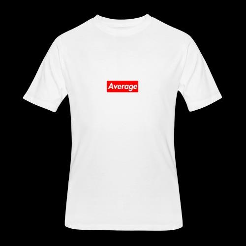Average Supreme Logo Mockup - Men's 50/50 T-Shirt