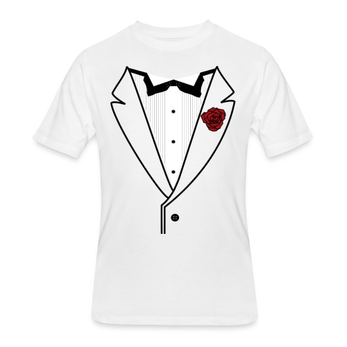Tuxedo w/Black Lined Lapel - Men's 50/50 T-Shirt