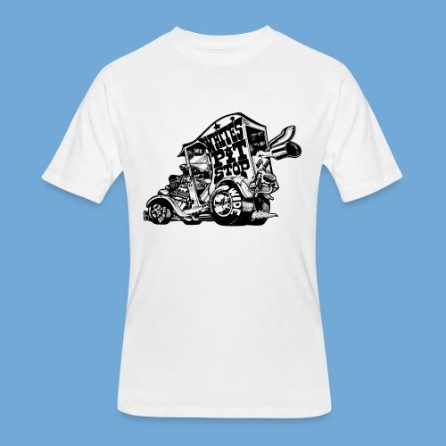 White's Pit Stop - Black - Men's 50/50 T-Shirt