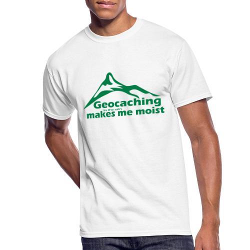 Geocaching in the Rain - Men's 50/50 T-Shirt