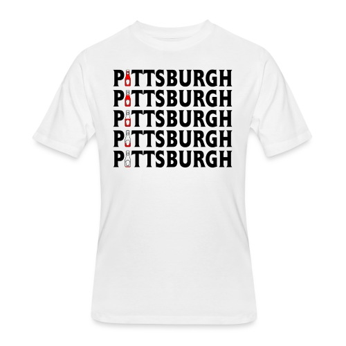 Pittsburgh (Ketchup) - Men's 50/50 T-Shirt