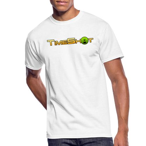 TimeShot Logo Text - Men's 50/50 T-Shirt