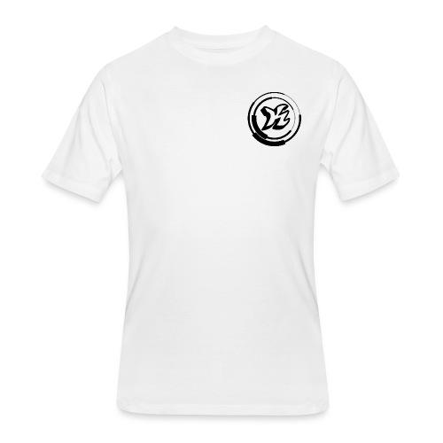 Kwozi Logo (WHITE ONLY) - Men's 50/50 T-Shirt